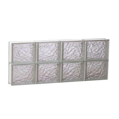31 in. x 11.5 in. x 3.125 in. Frameless Ice Pattern Non-Vented Glass Block Window