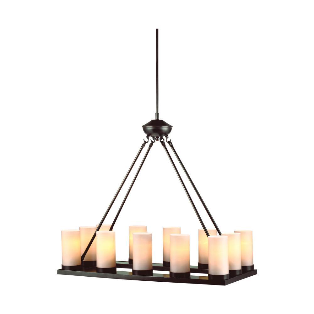 Ellington 12-Light Burnt Sienna Chandelier with LED Bulbs