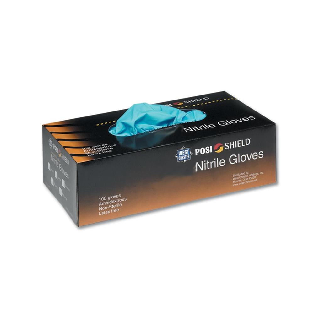 West Chester Box Powder Nitrile Disposable Gloves 100-Count