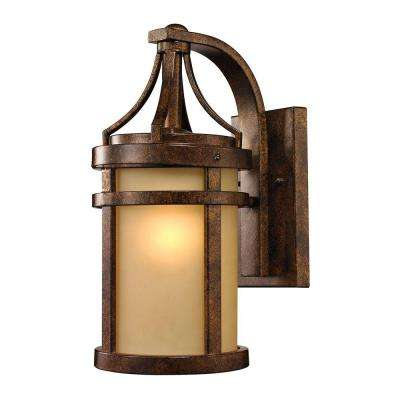 Cupertino Collection 1-Light Hazelnut Bronze Outdoor Sconce