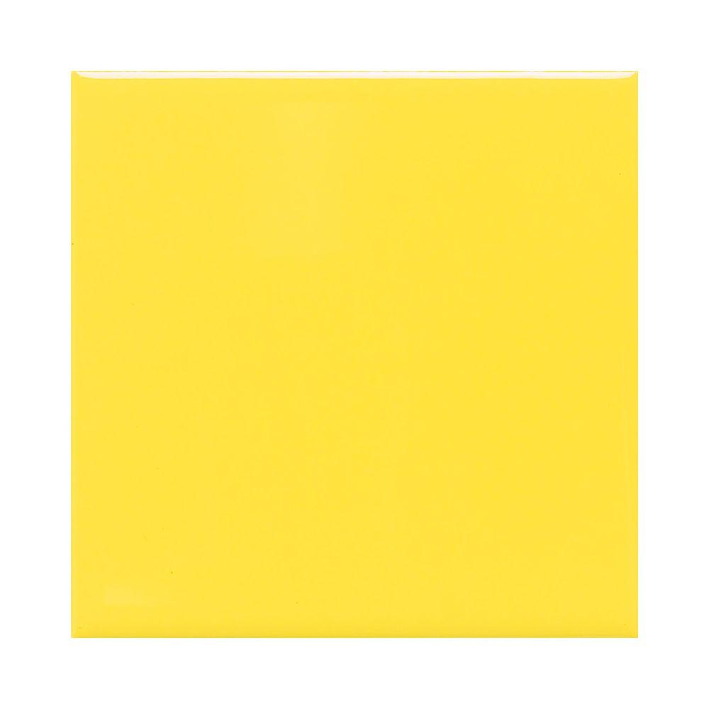 Daltile Semi-Gloss Sunflower 4-1/4 in. x 4-1/4 in. Ceramic Wall Tile (12.5 sq. ft. / case)-DISCONTINUED