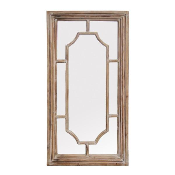 Large Rectangle Brown Novelty Mirror (47.8 in. H x 24.4 in. W)