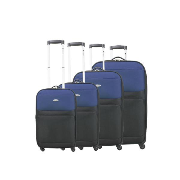 Chariot Dumont Lynx 4-Piece Softside Luggage Set DM-336 BLACK/NAVY