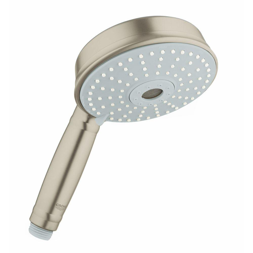 Rainshower Rustic 130 3-Spray Handheld Shower in Brushed Nickel