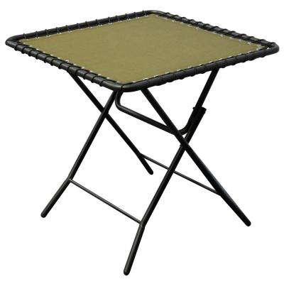 Beige Textiline Patio Folding Table