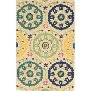 Nourison Overstock Suzani Ivory 2 ft. 6 inch x 4 ft. Accent Rug by Nourison Overstock