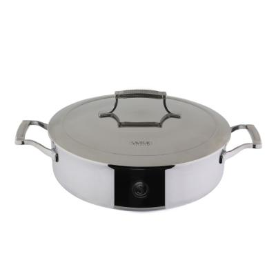Saveur Selects 5 qt. Tri-Ply Stainless Steel Saute Pan with Lid