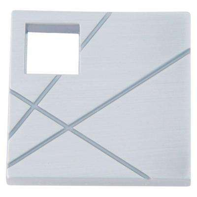 Modernist Collection 1-1/2 in. Brushed Nickel Square Cabinet Knob