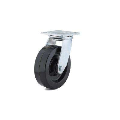 5-31/32 in. black Swivel Without Brake plate Caster, 881.9 lb. Load Rating