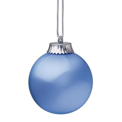 5 in. Blue Single LED Outdoor Hanging Globe Ornament