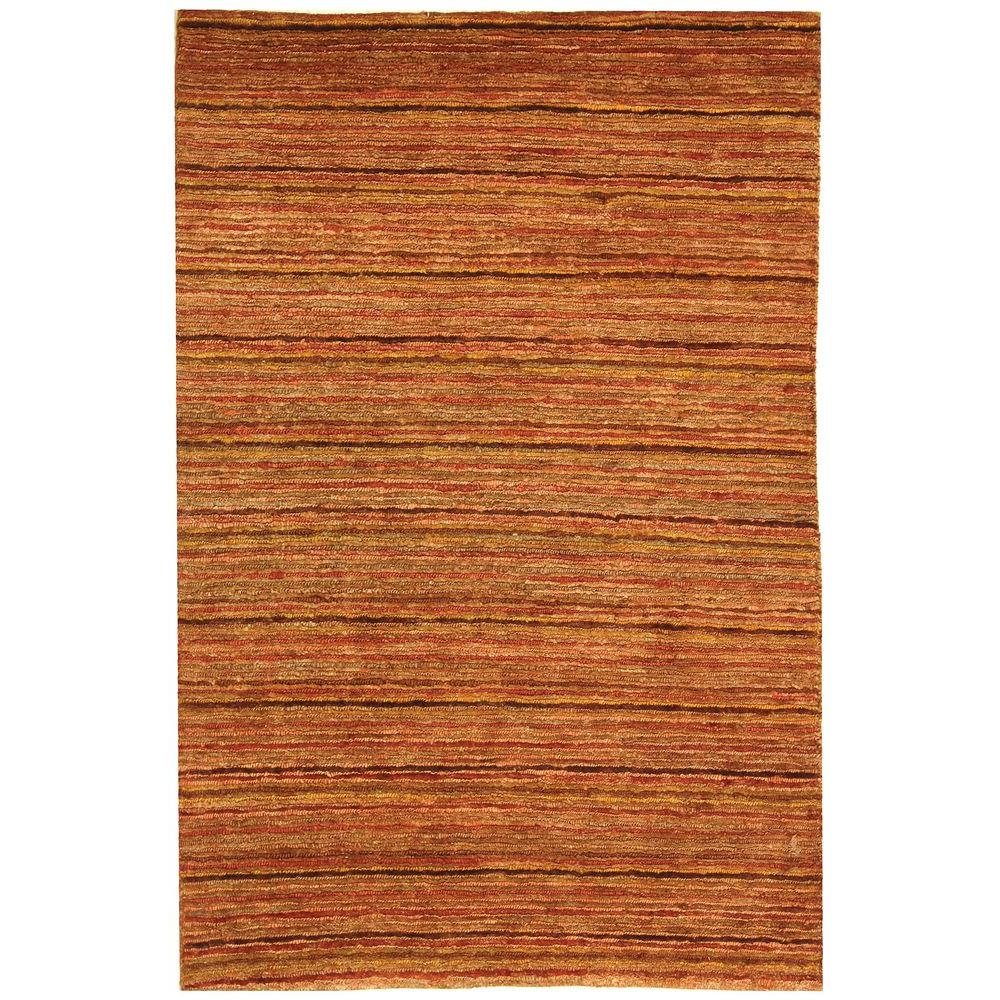 Organica Red/Multi 4 ft. x 6 ft. Area Rug