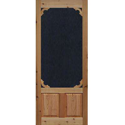 30 in. x 80 in. Woodland Cedar Screen Door