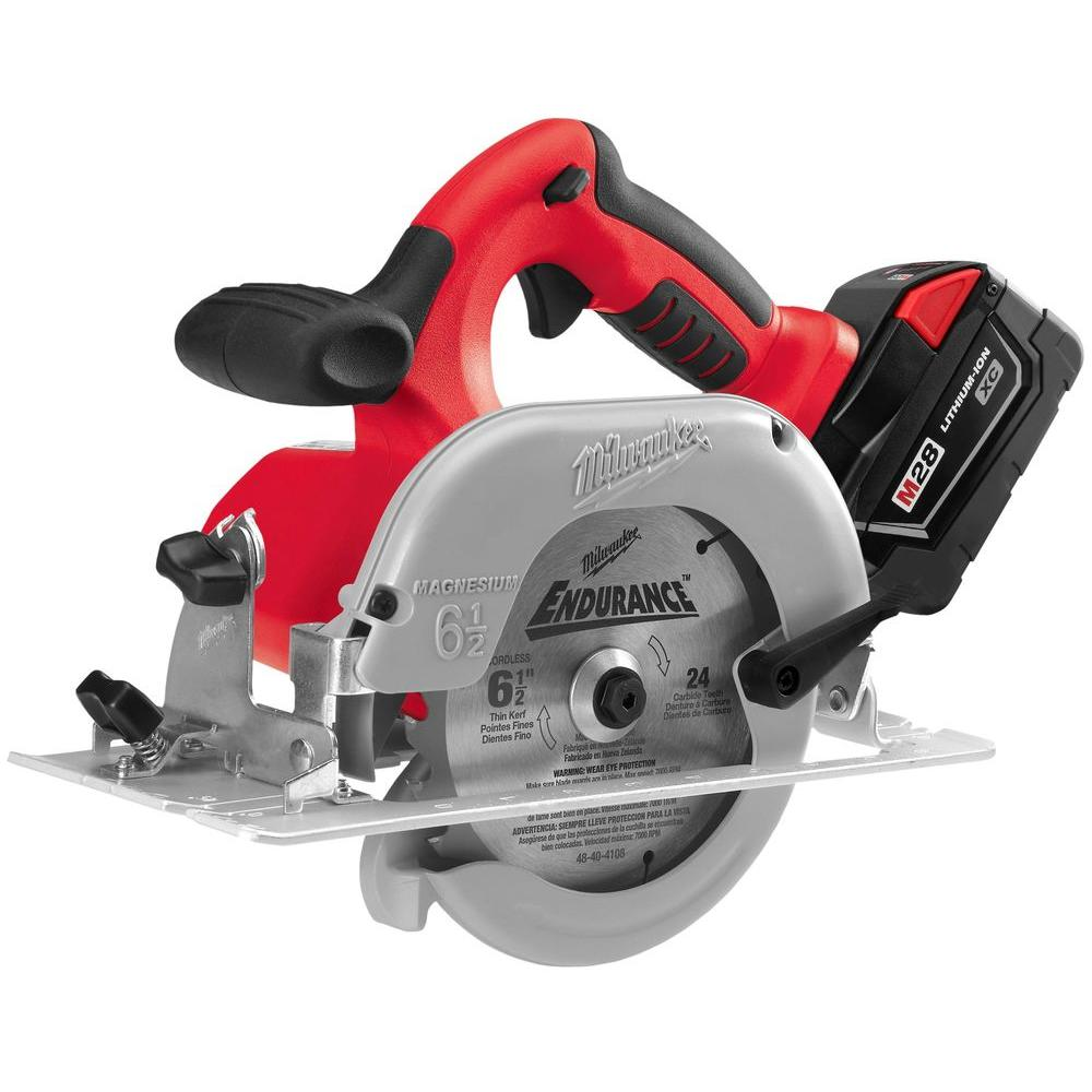 Milwaukee M28 28-Volt Lithium-Ion Cordless 6-1/2 in. Circular Saw Kit w/ (1) 3.0Ah Battery, Charger