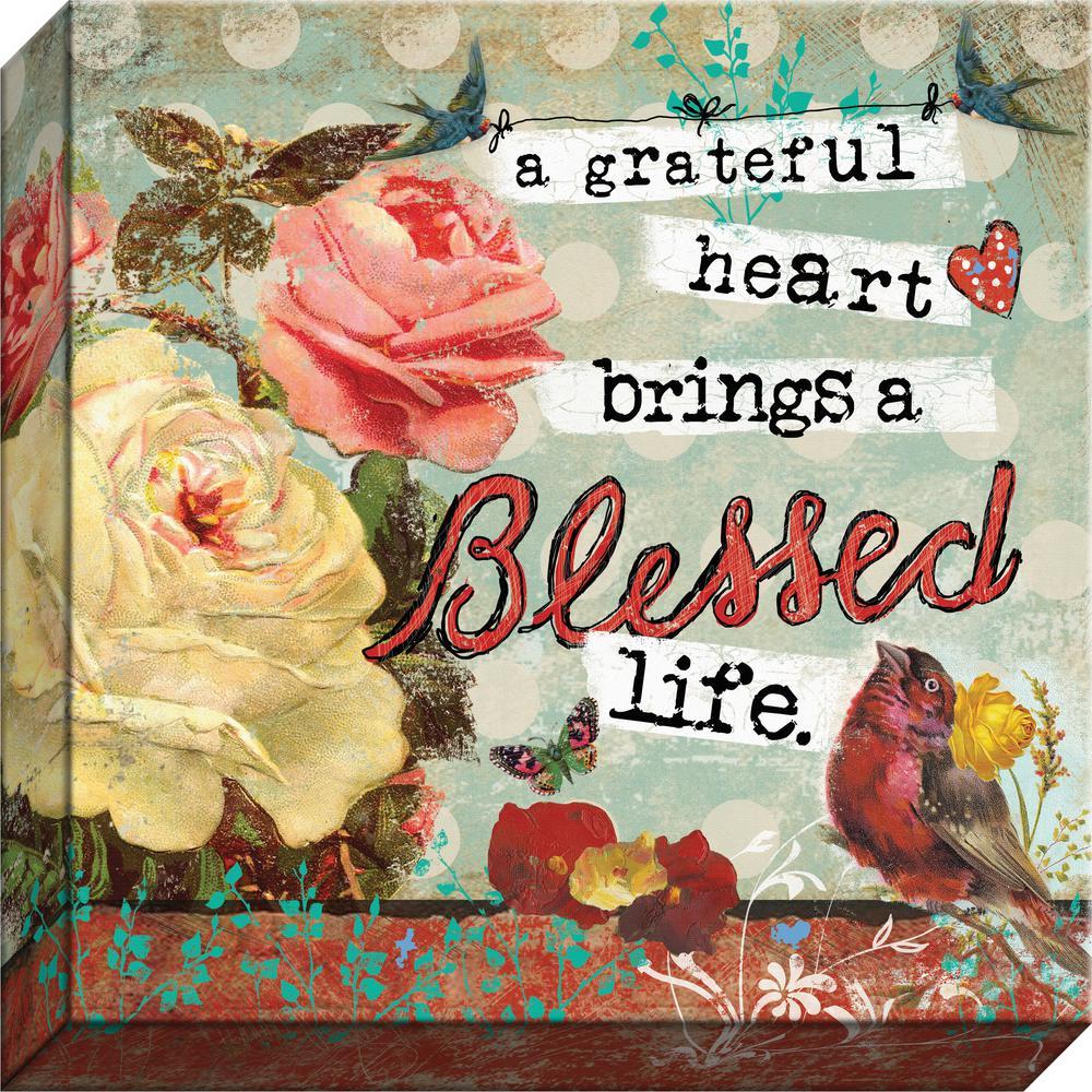 "Grateful Heart ""A Grateful Heart"" By Carpentree Canvas"