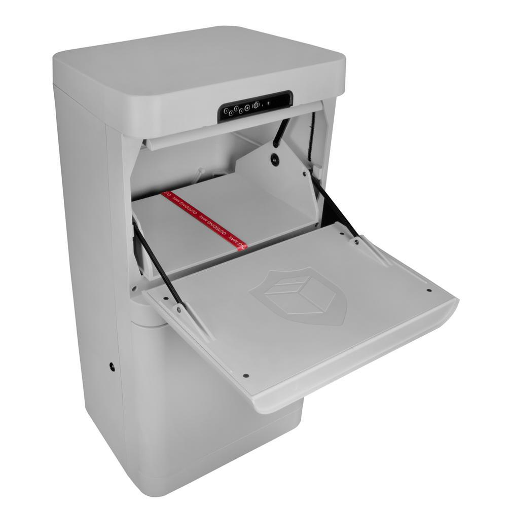 Gray Floor Mount Smart Parcel Security Mailbox