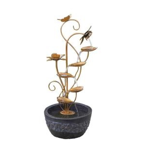Jeco Multi-Tier Metal Leaves Water Fountain by Jeco