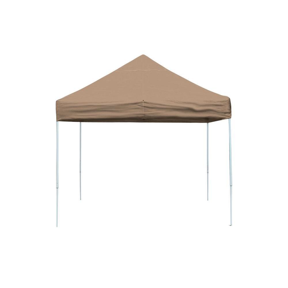 Pro Series 10 ft. x 10 ft. Desert Bronze Straight Leg