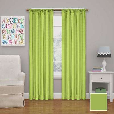 L Lime Rod Pocket Curtain
