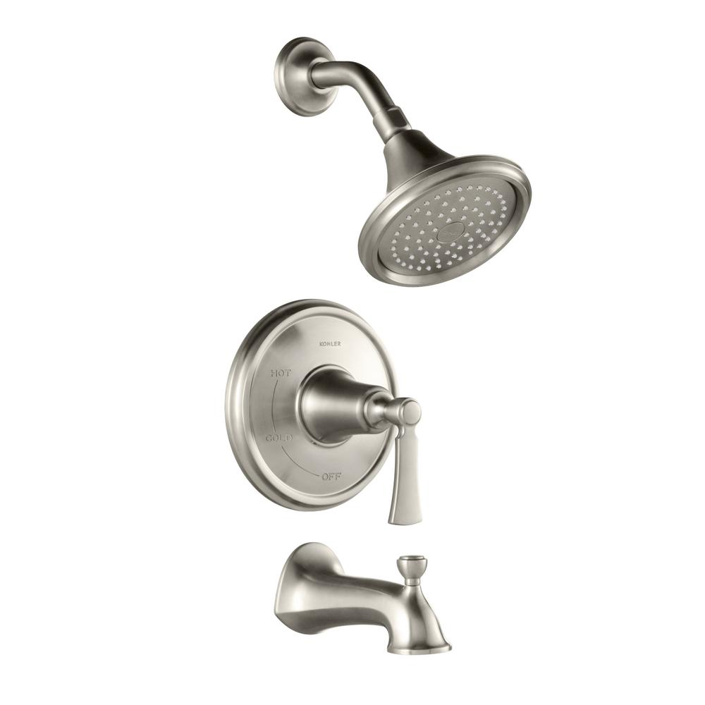 KOHLER Elliston Single-Handle 1-Spray Tub and Shower Faucet in ...