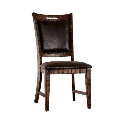 Remy Light Walnut Upholstered Side Chairs (Set of 2)