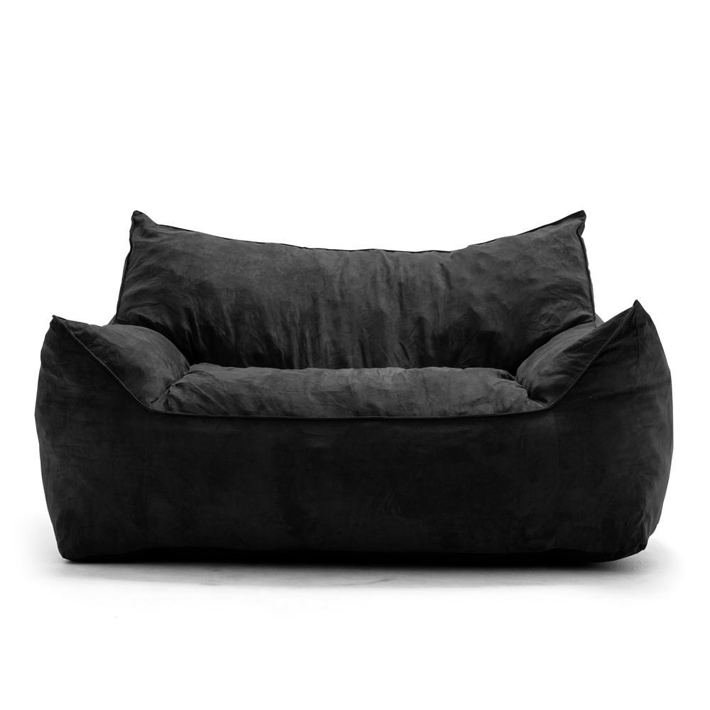 Strange Big Joe Roma Chair Black Comfort Suede Plus Bean Bag 0657378 Beatyapartments Chair Design Images Beatyapartmentscom