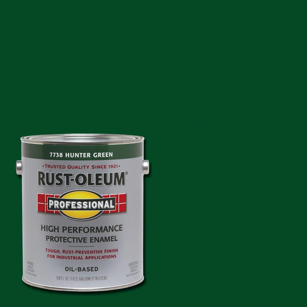Rust-Oleum Professional 1 gal. High Performance Protective Enamel Gloss Hunter Green Oil-Based Interior/Exterior Industrial Paint (2-Pack)