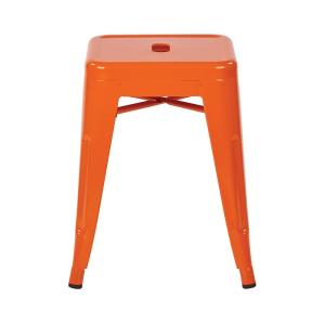 Terrific Patterson 18 In Orange Powder Coated Steel Metal Backless Stool Fully Assembled 2 Pack Creativecarmelina Interior Chair Design Creativecarmelinacom