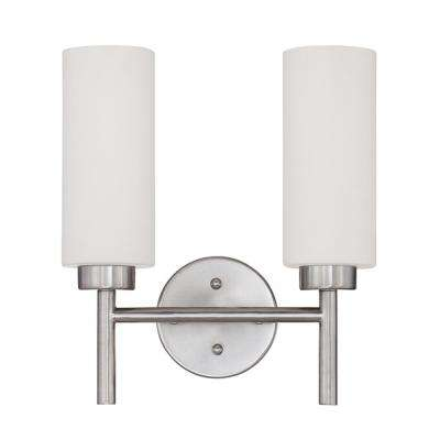 Rossington 2-Light Satin Nickel Bath Light