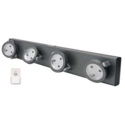 LED Grey Track Night Light with Remote