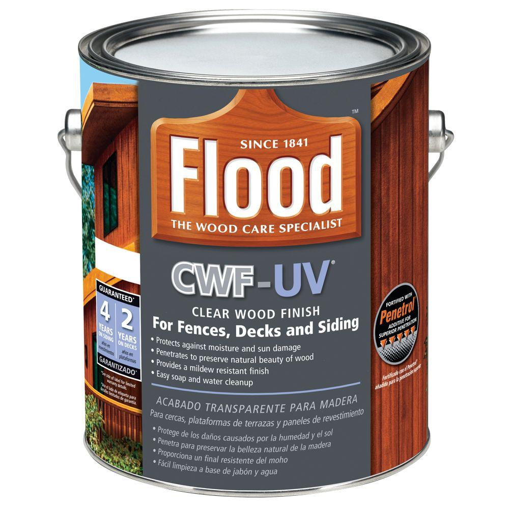 Flood 1 Gal Clear Cwf Uv Oil Based Exterior Wood Finish Fld542 01 The Home Depot