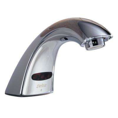 Awesome Commercial Battery Powered Single Hole Touchless Bathroom Faucet In Chrome Download Free Architecture Designs Rallybritishbridgeorg
