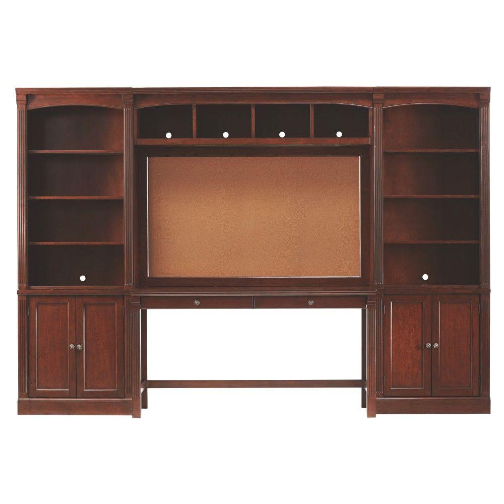 Home Decorators Collection Edinburgh 7 Piece Espresso Modular Office Suite 3062400800 The Home