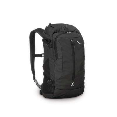 Venturesafe 19 in. Black Backpack with Laptop Compartment and Raincover