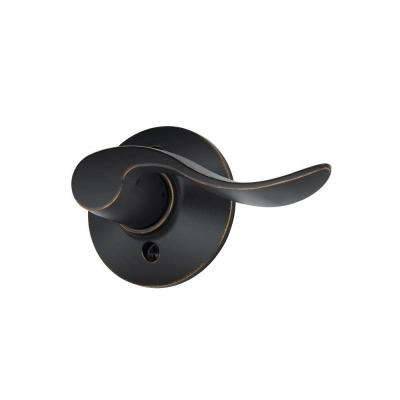 Accent Aged Bronze Right Handed Dummy Door Lever