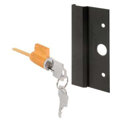 3 in. Black Keyed Sliding Door Outside Pull with Hole Centers