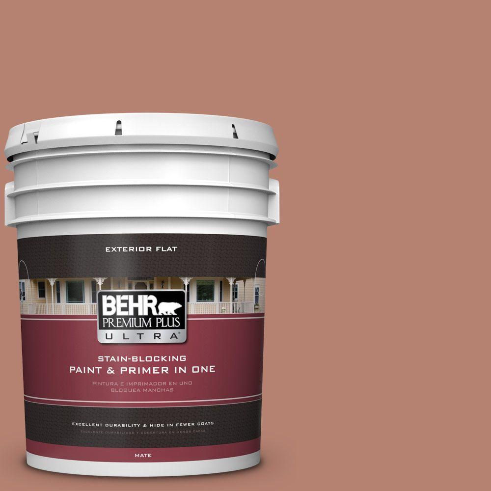 BEHR Premium Plus Ultra 5-gal. #S180-5 Auburn Glaze Flat Exterior Paint