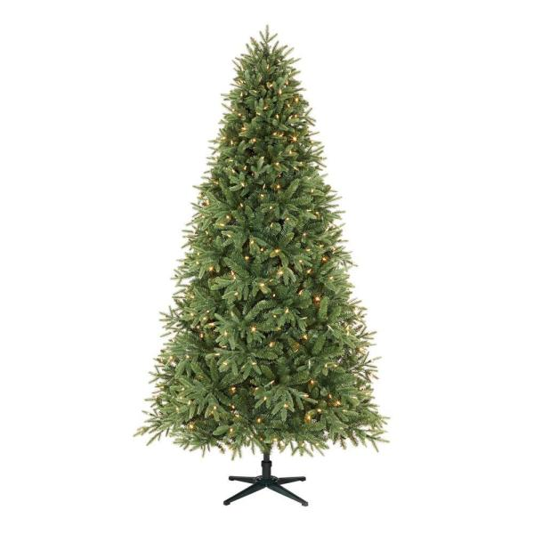 Home Accents Holiday 7.5 ft.  Ellis Black Spruce LED Pre-Lit Tree with 500 Color Changing Lights   The Home Depot