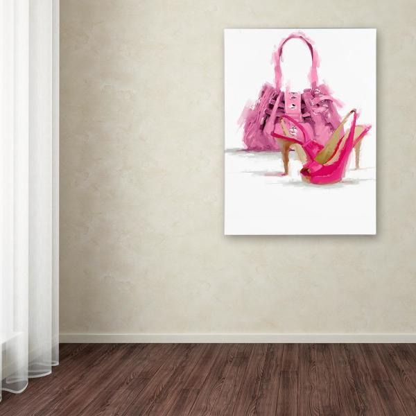 Trademark Fine Art 24 in. x 18 in. ''Pink Bag'' by