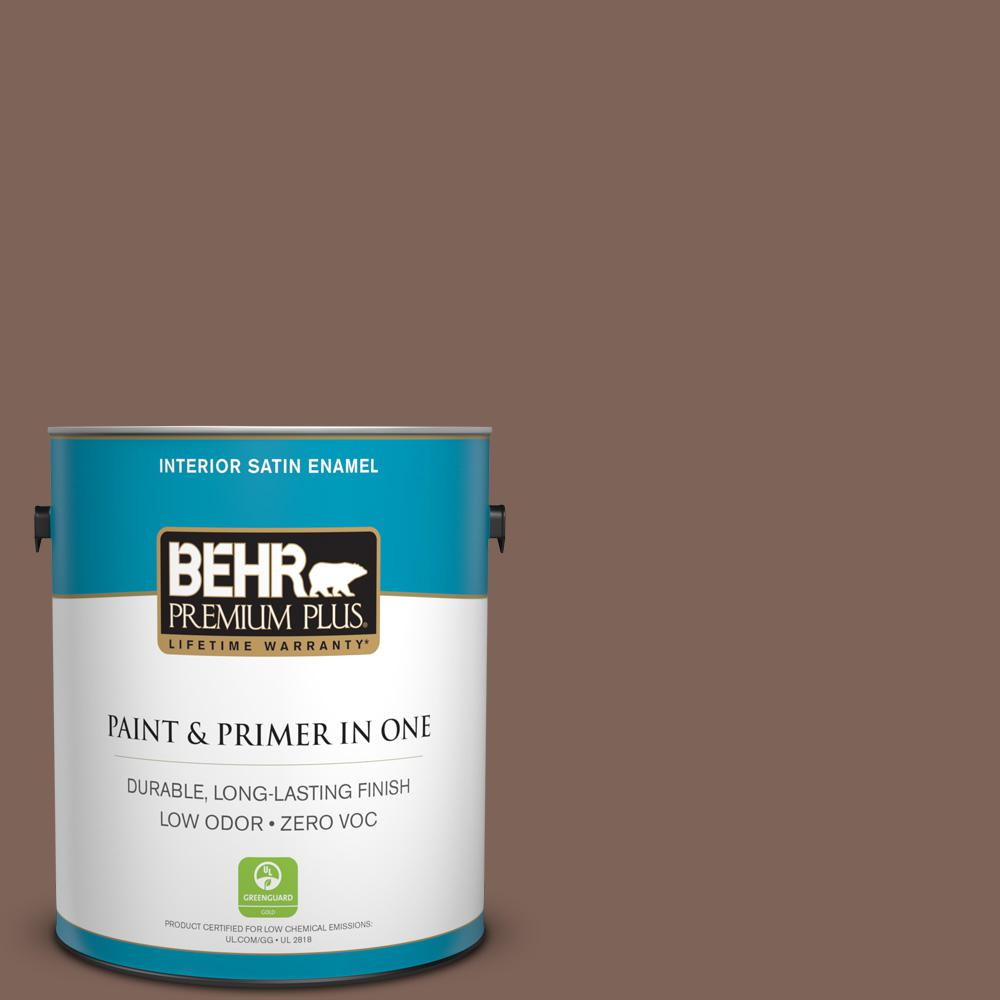 Home Decorators Collection 1-gal. #HDC-AC-05 Cocoa Shell Zero VOC Satin Enamel