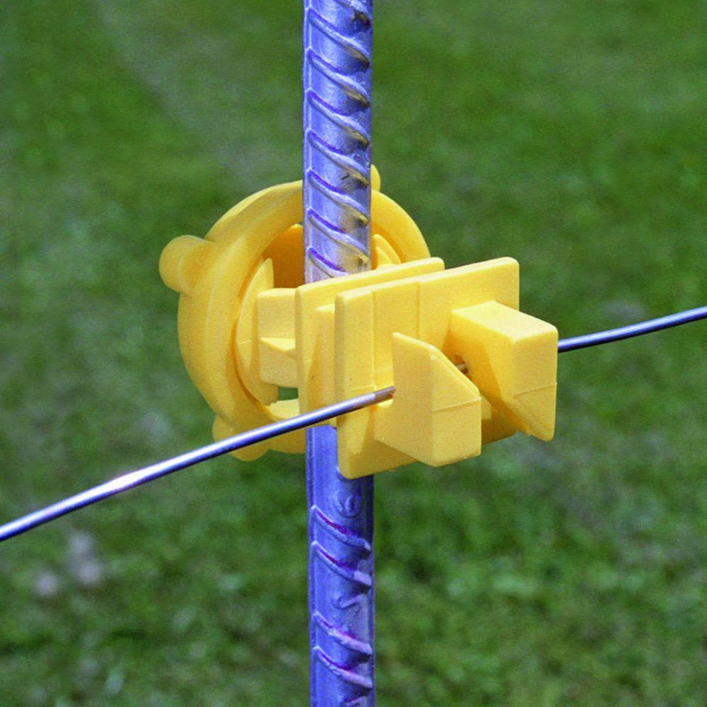 25 Pcs Yellow Standard Snug Fitting T Post Insulator Electric Fence Wire Holder