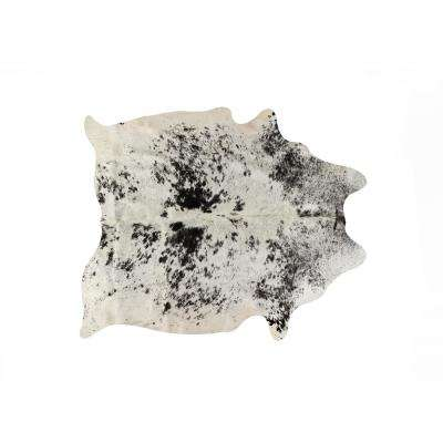 KOBE COWHIDE WHITE/BLACK 5 ft. x 7 ft. SALT & PEPPER AREA RUG