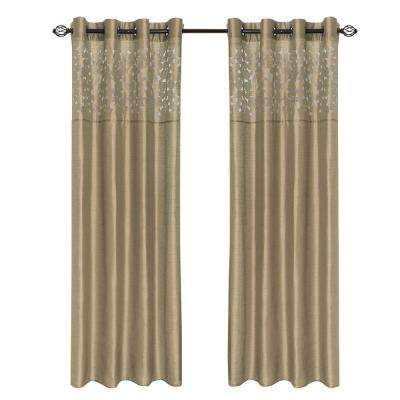 Taupe Karla Laser-Cut Grommet Curtain Panel, 108 in. Length