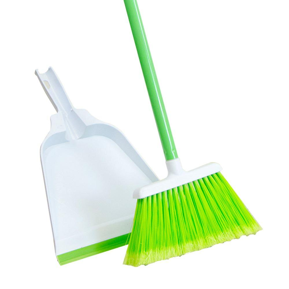 Upright Poly Broom And Dustpan