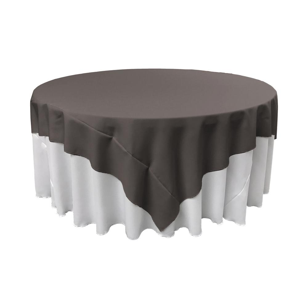 Charcoal Polyester Poplin Square Tablecloth