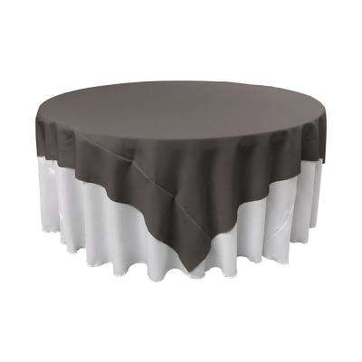 90 in. x 90 in. Charcoal Polyester Poplin Square Tablecloth
