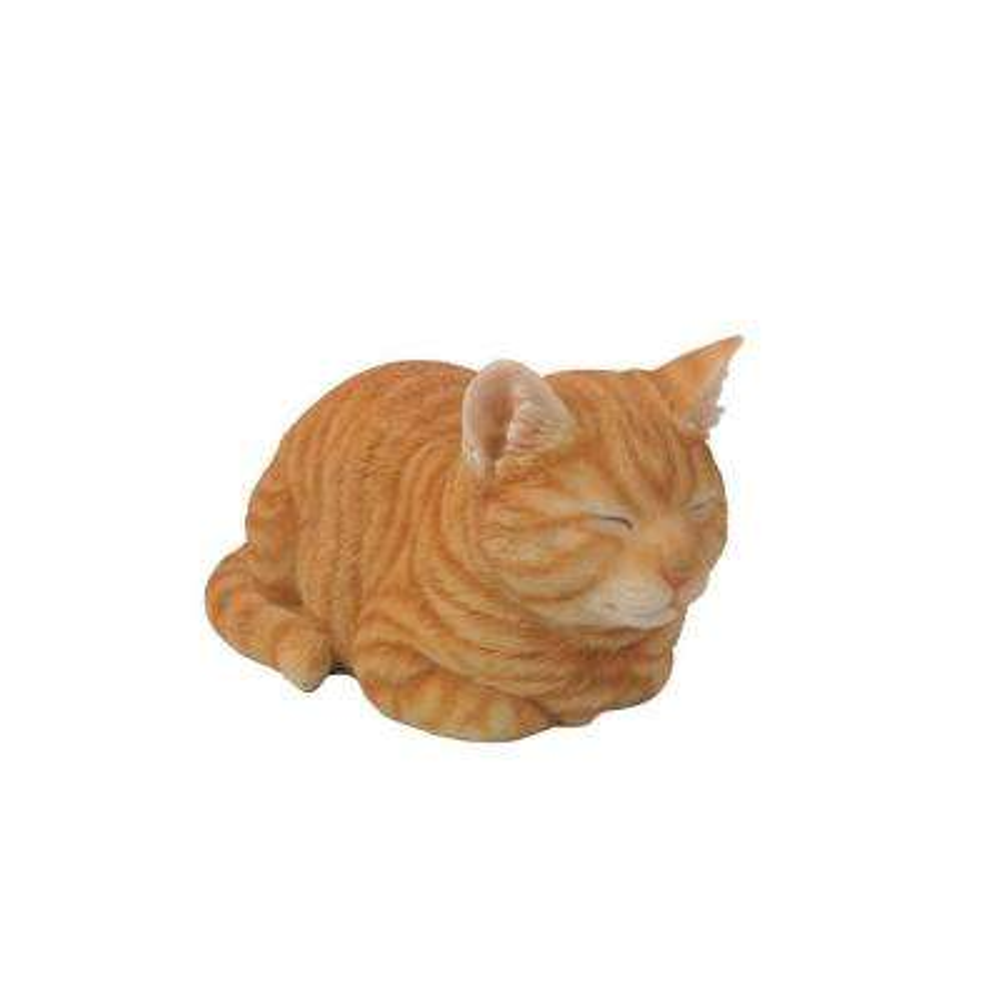 Orange Tabby Cat Sleeping Statue