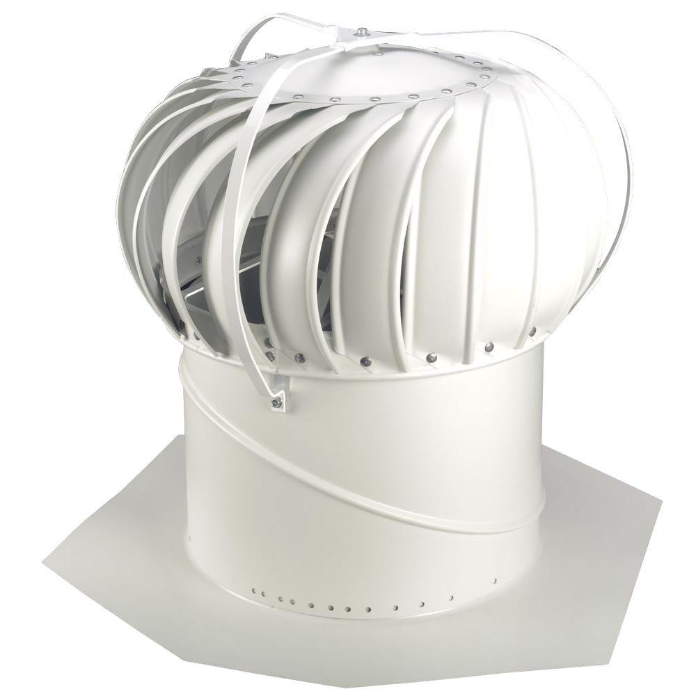 Whirlybird Roof Vents : Whirlybird in white aluminum externally braced wind