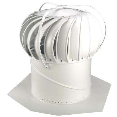 14 in. White Aluminum Externally Braced Wind Turbine