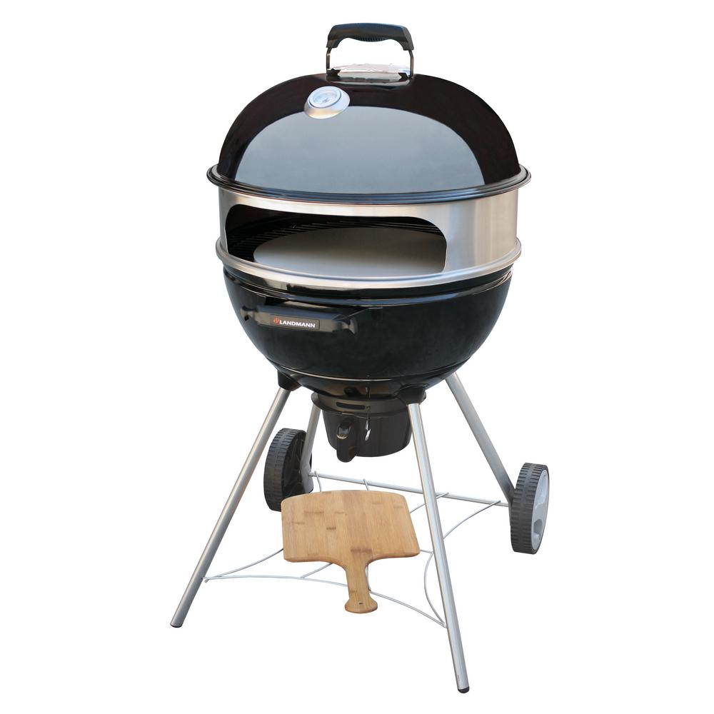 LANDMANN Kepler 350 Kettle Charcoal Grill with Pizza Insert