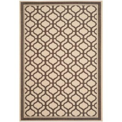 Tangier Cream/Chocolate 5 ft. x 8 ft. Indoor/Outdoor Area Rug